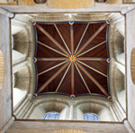 Inside the roof of Chichester cathedral