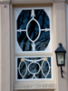 Decorative door windows