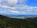 The view from above Coromandel up towards Auckland