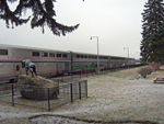 The EMPIRE BUILDER at Whitefish Montana station
