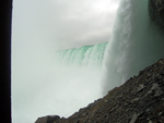 Close up of the falls